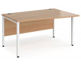 Value Line Deluxe Bench Right Hand Wave Desks (White Legs)