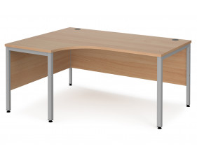 Value Line Deluxe Bench Left Hand Ergo Desks (Silver Legs)