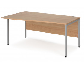 Value Line Deluxe Bench Left Hand Wave Desks (Silver Legs)