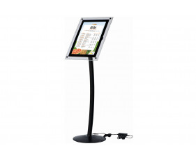 Busygrip Illuminated Black Poster Stand