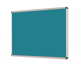 Shield Resist-A-Flame Woven Cloth Noticeboard With Aluminium Frame