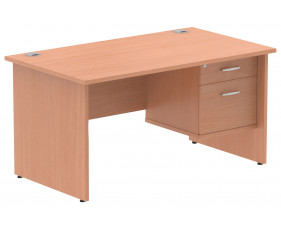 Vitali Panel End Rectangular Desk 2 Drawers