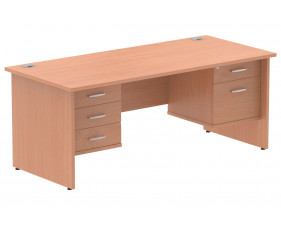 Vitali Panel End Rectangular Desk 2+3 Drawers