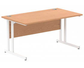 Vitali C-Leg Rectangular Desk (White Legs)