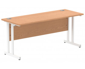 Vitali C-Leg Narrow Rectangular Desk (White Legs)