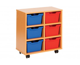 Cubby Tray Storage Unit With 6 Trays