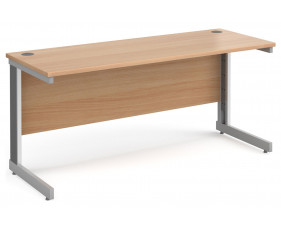 All Beech Deluxe Narrow Rectangular Desk