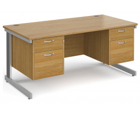 All Oak Deluxe Executive Desk 2+2 Drawers