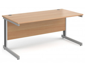 All Beech Deluxe Rectangular Desk