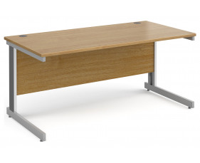 All Oak Deluxe Rectangular Desk