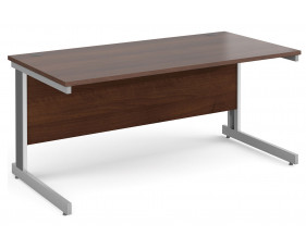 All Walnut Deluxe Rectangular Desk