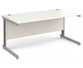All White Deluxe Rectangular Desk