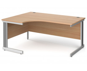 All Beech Deluxe Left Hand Ergonomic Desk