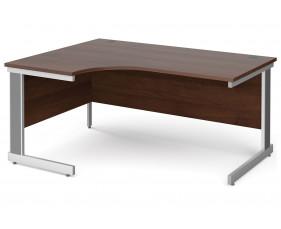 All Walnut Deluxe Left Hand Ergonomic Desk