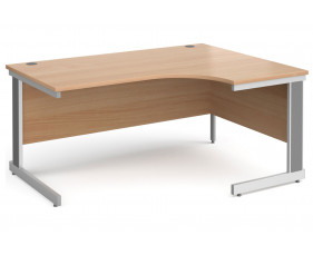 All Beech Deluxe Right Hand Ergonomic Desk