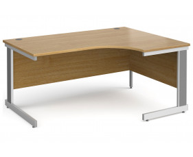 All Oak Deluxe Right Hand Ergonomic Desk