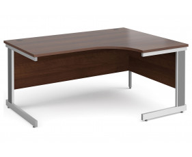 All Walnut Deluxe Right Hand Ergonomic Desk