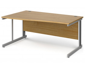 All Oak Deluxe Left Hand Wave Desk