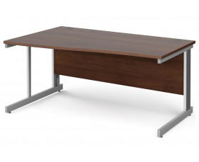 All Walnut Deluxe Left Hand Wave Desk