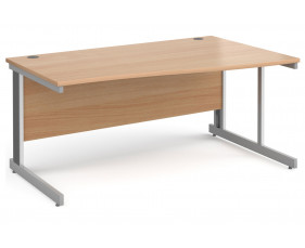 All Beech Deluxe Right Hand Wave Desk