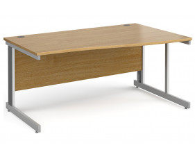 All Oak Deluxe Right Hand Wave Desk