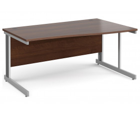 All Walnut Deluxe Right Hand Wave Desk