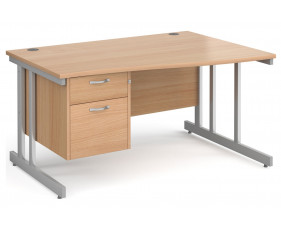 Next-Day Tully II Right Hand Wave Desk 2 Drawers