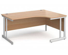 All Beech Double C-Leg Ergonomic Right Hand Desk