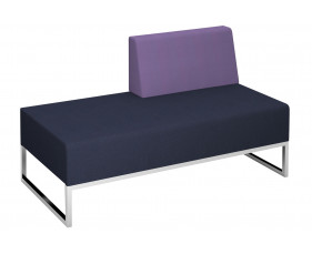 Fuse Double Bench With Left Hand Back