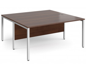 All Walnut Bench Back 2 Back Desk