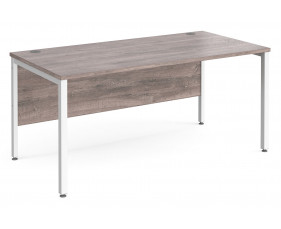 All Grey Oak Bench Rectangular Desk