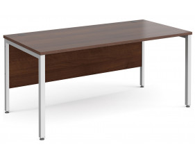 All Walnut Bench Rectangular Desk