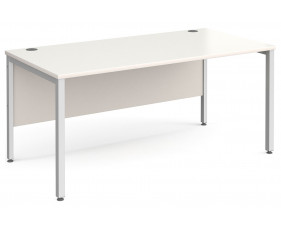 All White Bench Rectangular Desk