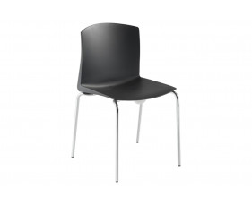 Pack Of 2 Tagus Poly Meeting Room Chairs With 4 Leg Base