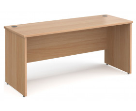All Beech Panel End Narrow Rectangular Desk