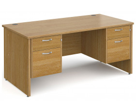 All Oak Panel End Executive Desk 2+2 Drawers
