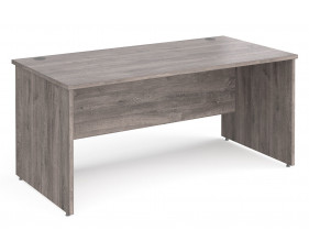 All Grey Oak Panel End Rectangular Desk