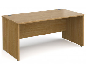 All Oak Panel End Rectangular Desk