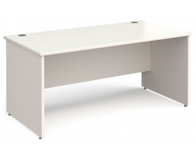 All White Panel End Rectangular Desk
