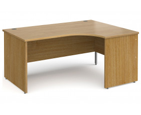 All Oak Panel End Right Hand Ergonomic Desk
