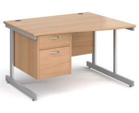 Next-Day Tully I Right Hand Wave Desk 2 Drawers