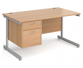 Next-Day Tully I Rectangular Desk 2 Drawers