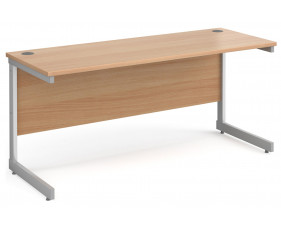 All Beech C-Leg Narrow Rectangular Desk