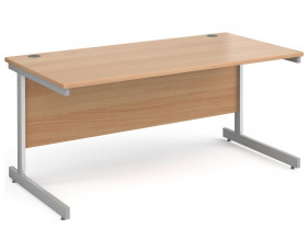 All Beech C-Leg Rectangular Desk