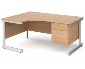 Next-Day Tully I Left Hand Ergonomic Desk 2 Drawers