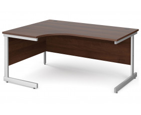 All Walnut C-Leg Ergonomic Desk Left