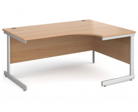 All Beech C-Leg Ergonomic Desk Right