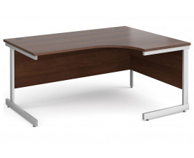 All Walnut C-Leg Ergonomic Desk Right