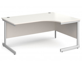 All White C-Leg Ergonomic Desk Right