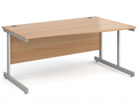 All Beech C-Leg Wave Desk Right